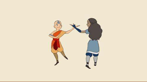 the afterlife | Aang and Katara, dance-bending
