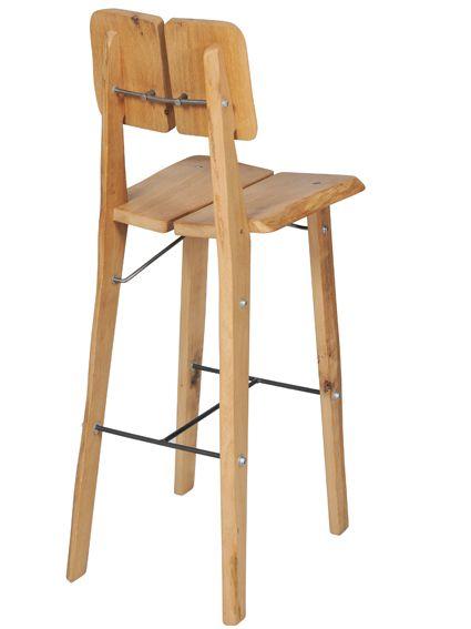 Foto item boomstam stoel hoog naturel