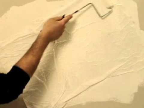 """Tissue paper wall texture """"How-To."""""""