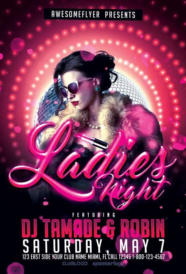Check Out The Ladies Night Free Flyer Template Only On Https Freepsdflyer Com Ladies Night Free Free Psd Flyer Free Psd Flyer Templates Free Flyer Templates