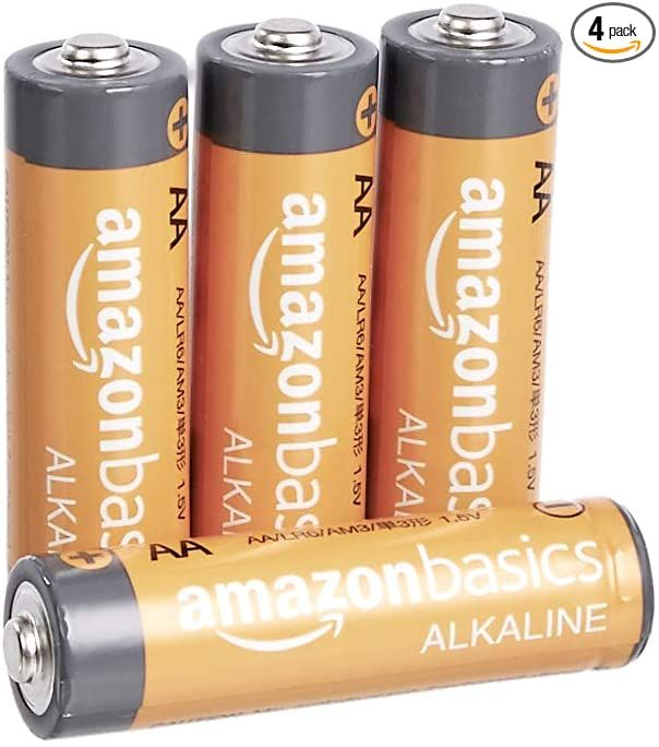 Amazonbasics 4 Count Aa High Performance Alkaline Batteries 10 Year Shelf Life Easy To Open Value Pack Health Per Alkaline Battery Alkaline Digital Camera