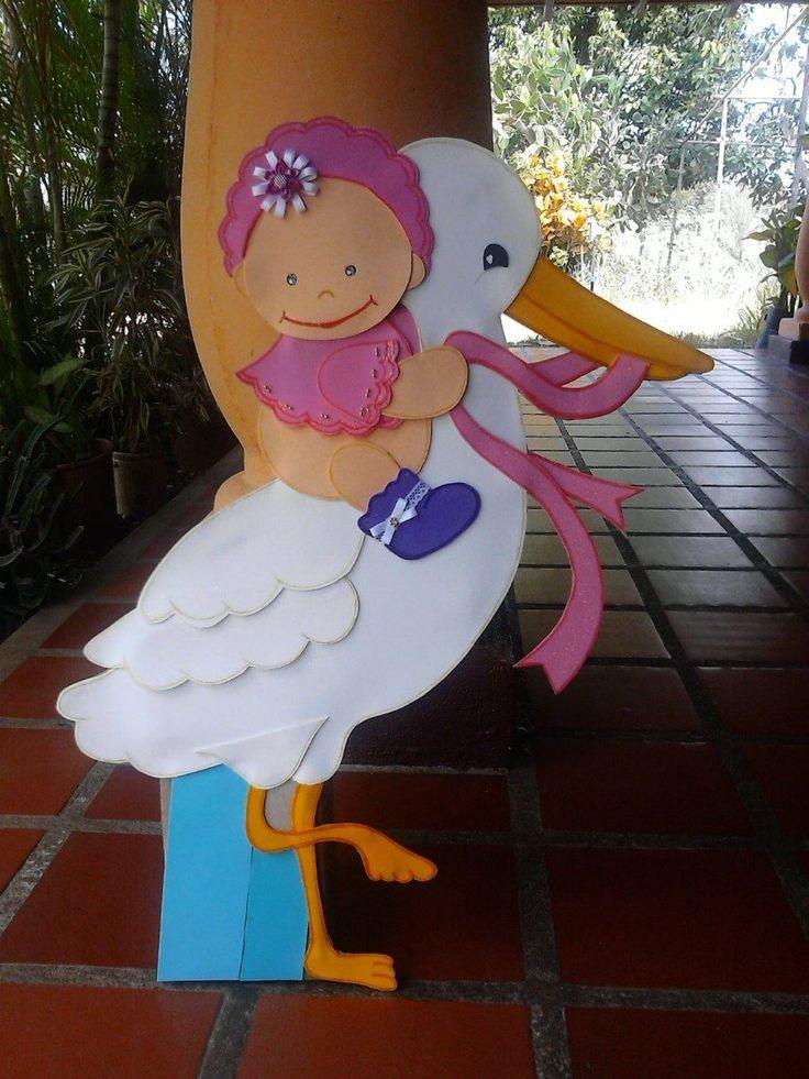 cigueñas para baby shower - Buscar con Google