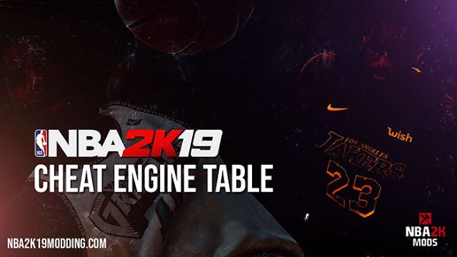 Free 100% #Download #NBA 2K19 Mods Cheat Engine Table And