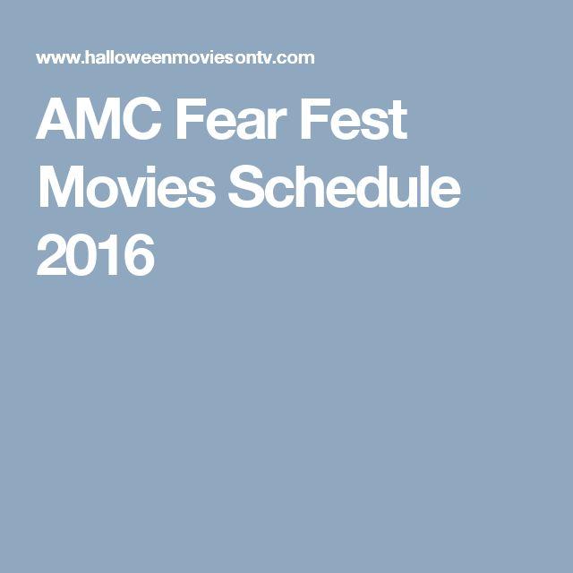AMC Fear Fest Movies Schedule 2016