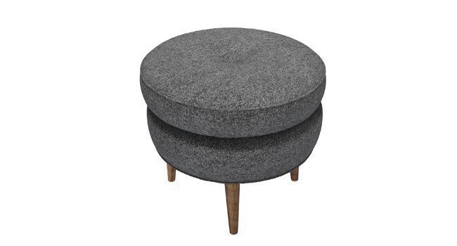 Felix Footstool in Granite Soft Wool