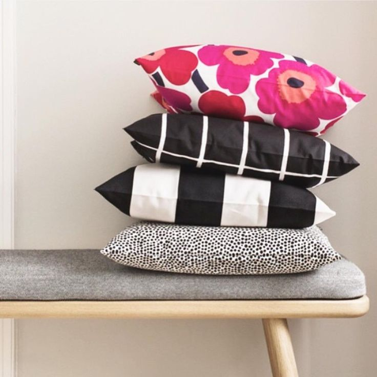 Sometimes all your home need is an extra pillow...or four. // #marimekko #marimekkohome