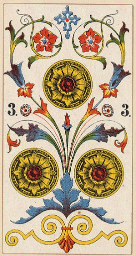Serravalle Sesia Tarot - Three of Coins - Rozamira Tarot - Picasa Web Albums