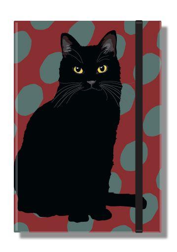 Black Cat Pocket Notebook - Leslie Gerry