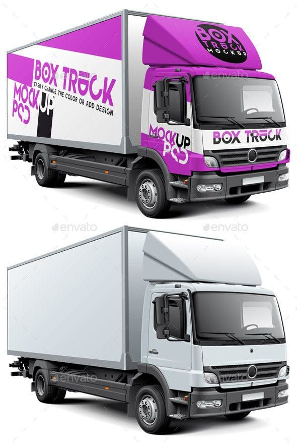 6b2162354f Box Truck Mockup - Vehicle Wraps Print