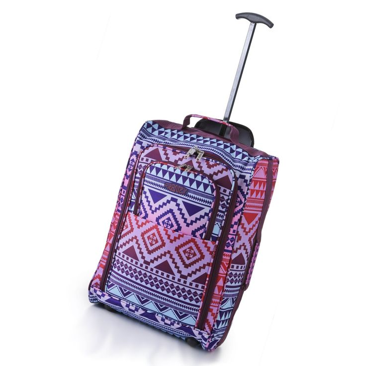Amazon.com: 5 Cities Carry On Wheeled Travel Trolley Bag 21: Clothing