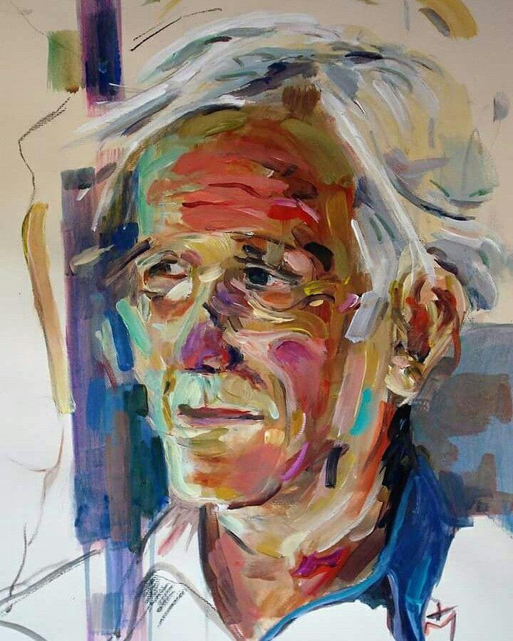 Tasos bousdoukos acrylic painting