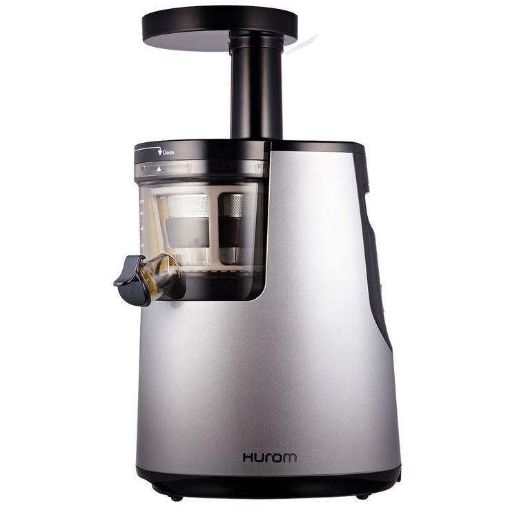 Storcator de fructe si legume cu melc Hurom HH, 150W, 70 RPM, Recipient suc 0.5 l, Recipient pulpa, Gri