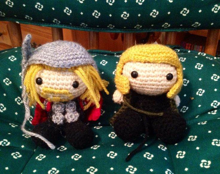 Hello fellow crochet enthusiasts :) ok, I know Thor's helmet is missing a wing, Loki doesn't have any hair yet, or a complete helmet, but I was working on my order (due very soon) and I wanted to share a trick that was introduced to me in the Loki pattern. Maybe I'm just not as experienced and you guys already know this if you're in to Amigurumi, but if you slip stitch around the edges of Ami helmet, it creates a sturdy effect that gives some extra shape to it. I just thought this was cool…