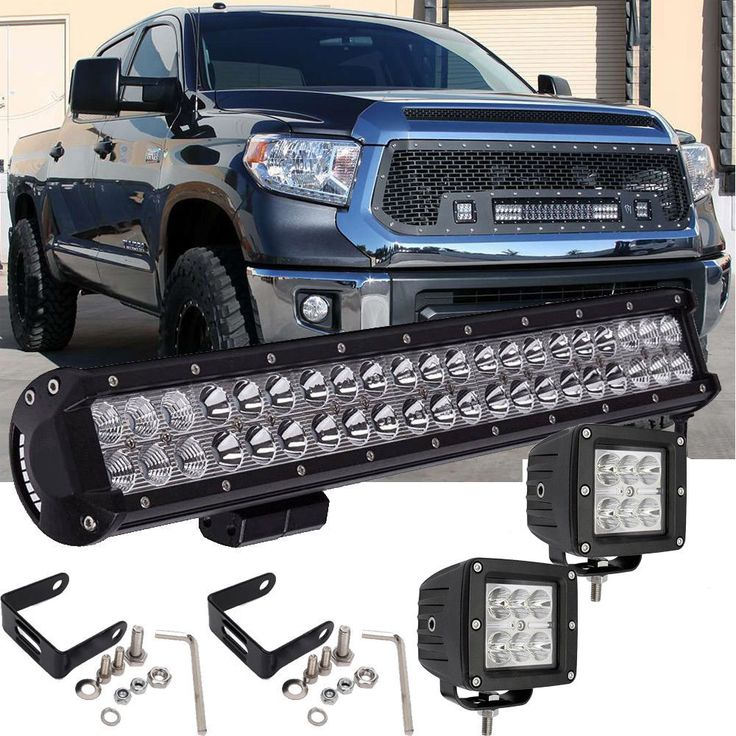 """Awesome Amazing LED Light Bar 20"""" INCH 2014-2016 Toyota Tundra w/ 2PCS 3""""X3"""" INCH Cube Pods LED 2017/2018 Check more at http://24auto.tk/toyota/amazing-led-light-bar-20-inch-2014-2016-toyota-tundra-w-2pcs-3x3-inch-cube-pods-led-20172018/"""