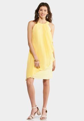 d225eaa4201ed9 Cato Fashions Plus Size Yellow Ruffled Swing Dress  CatoFashions ...