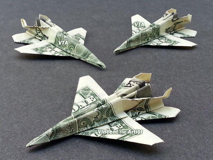 F-18 Jet Fighters - Money Origami - Dollar Bill Art
