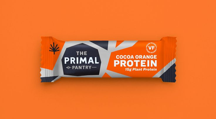 Packaging / Colour / Orange / Energy / Protein / Protein Bar / Hemp Protein / Sports / Sports Bar / Primal Pantry