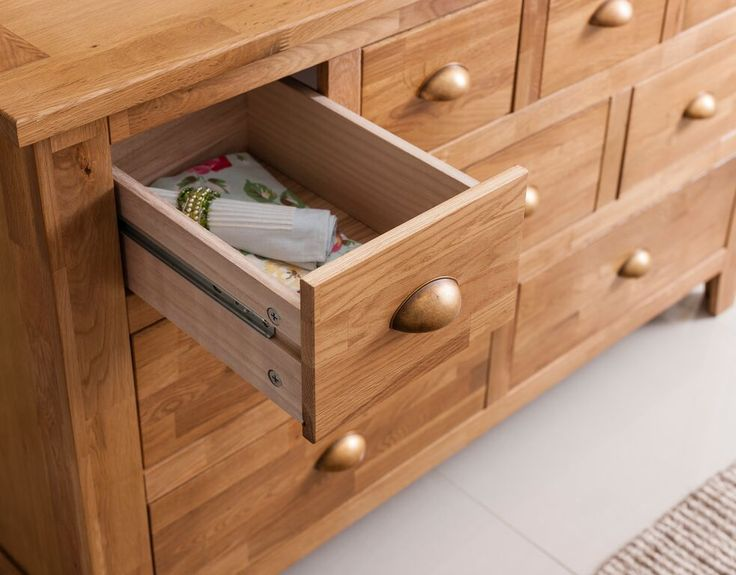 Superior Noa And Nani Vermont Solid Oak Sideboard In Natural Oak | £189.99 | # LivingRoom