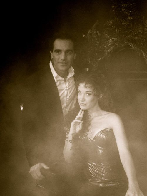 Ramin Karimloo and Sierra Boggess before filming Till I Hear You Sing video.