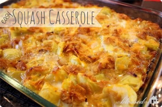 Easy Squash Casserole   A little different take on the squash casserole I am custom to. Need to try this.