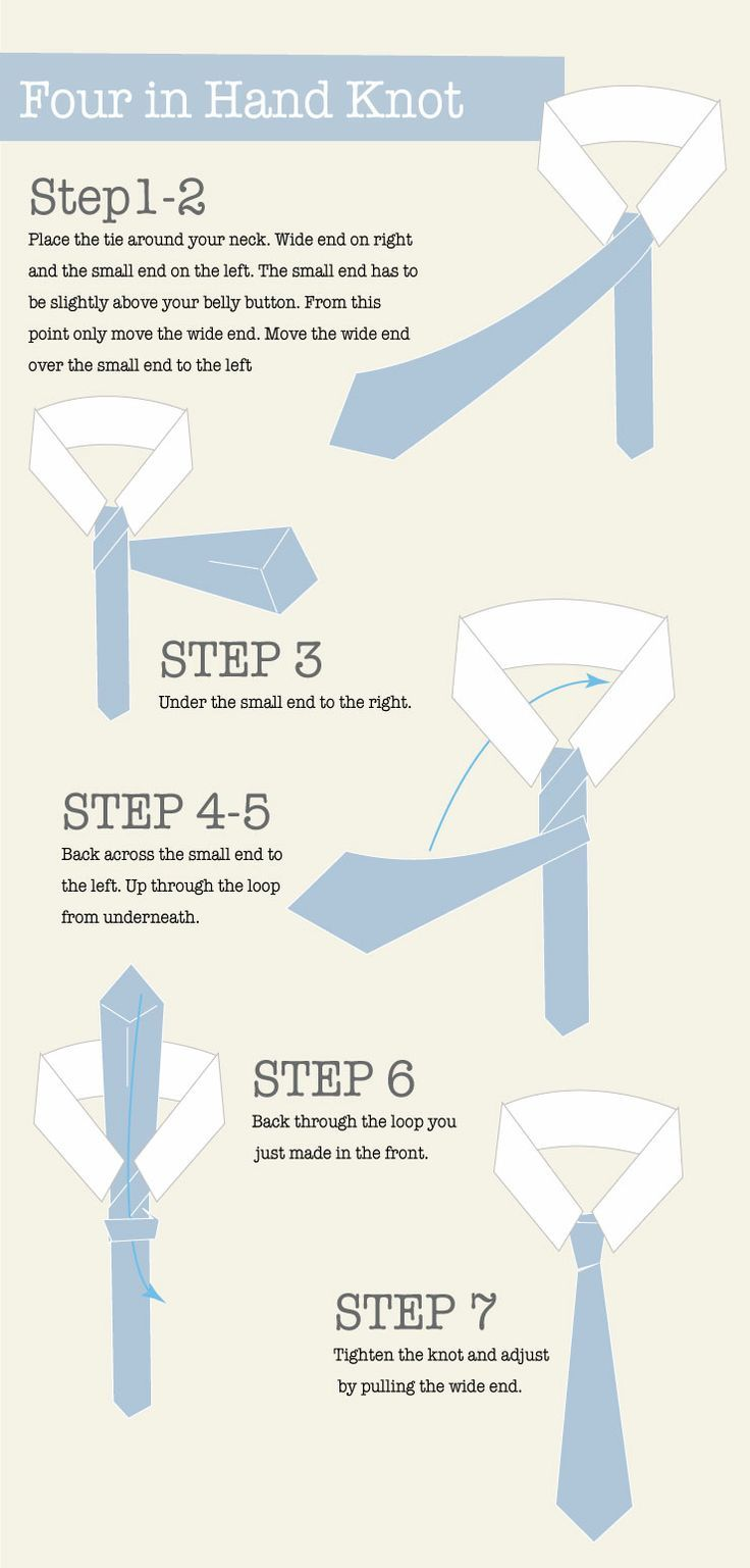 How to tie a knot. Men's grooming