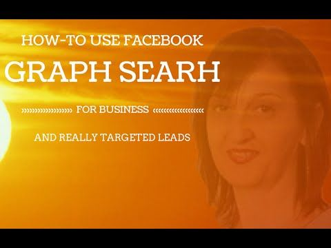 How to Use Facebook Graph Search For Business #facebookforbusiness #facebook #graphsearch https://www.youtube.com/watch?v=qW6n424dEbE&list=UUuIqbdyBnFQ0EoWYmitW6rQ