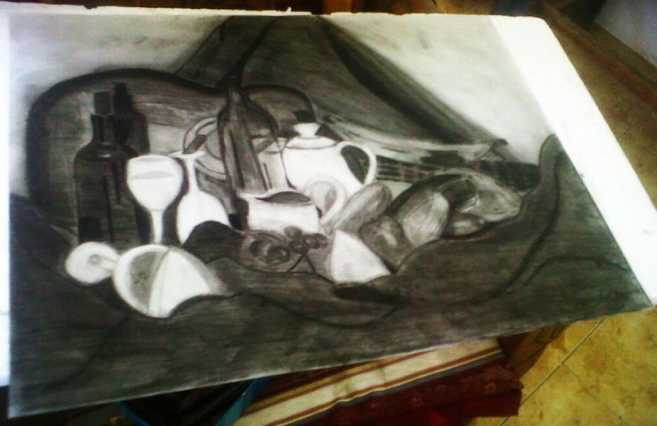 #DibujoI #Bodegon #Arte #Creacion