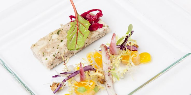 This elegant guinea fowl terrine recipe from Daniel Galmiche takes careful preparation but is well worth the effort. The guinea fowl is cooked sous vide for meltingly tender results, which is served with pickled red cabbage and an orange and chicory salad.