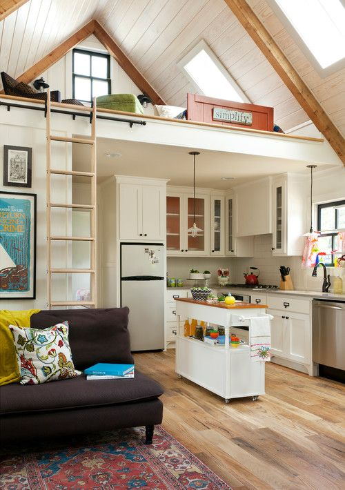 Kitchen and Living Room in Tiny House