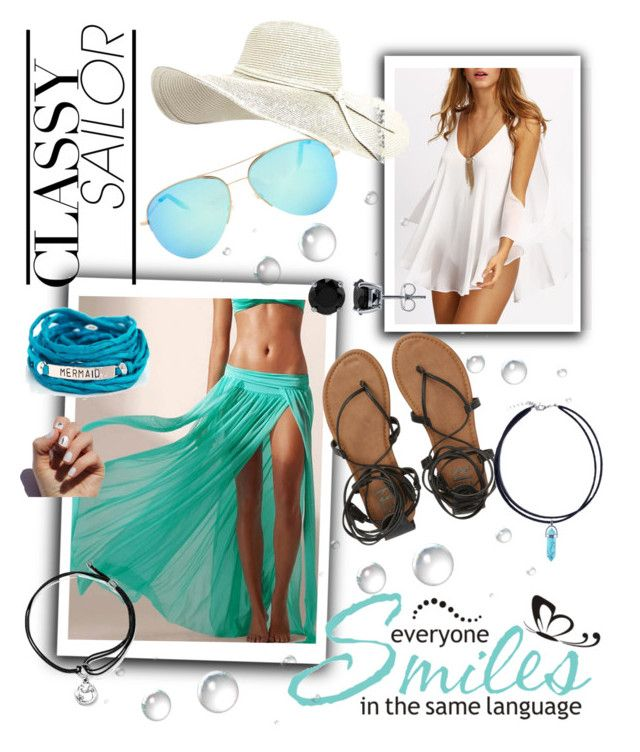 Aquamarine by bubblegum13fuschia on Polyvore featuring polyvore, fashion, style, WithChic, Billabong, Blooming Lotus Jewelry, Alex and Ani, BERRICLE, Victoria Beckham, SoGloss, WALL and clothing
