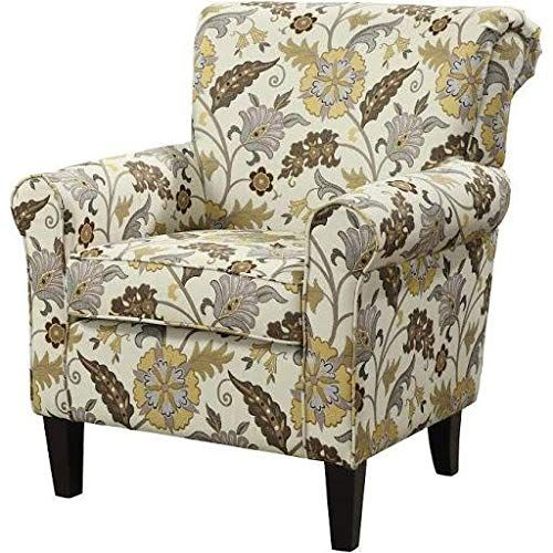 Brilliant Coaster 902082 Rosalie Cappuccino Floral Print Retro Accent Ncnpc Chair Design For Home Ncnpcorg