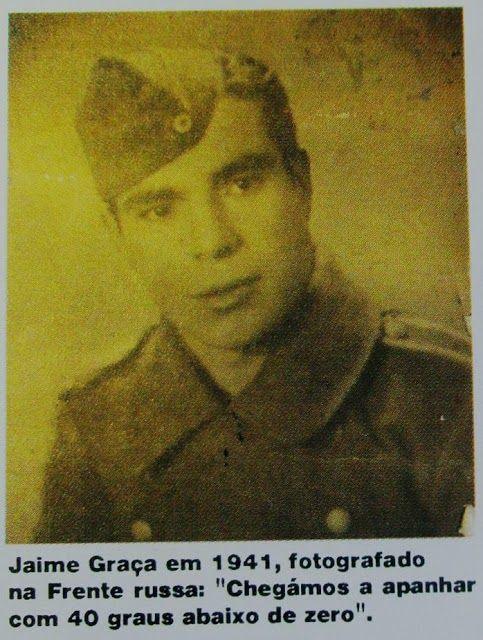 """Portugueses na Divisão Azul.  A 250. Einheit spanischer Freiwilliger  da Wehrmacht , mais conhecida como a """"Divisão Azul"""" ( Blaue Division , para o exército alemão),..."""