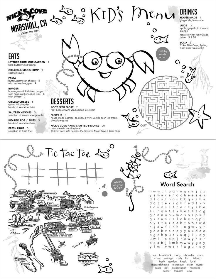 7 best menus images on pinterest kids menu restaurant for Free printable menu templates for kids