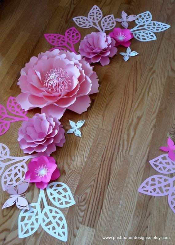 Paper flower wall decor Large paper flower backdrop Giant