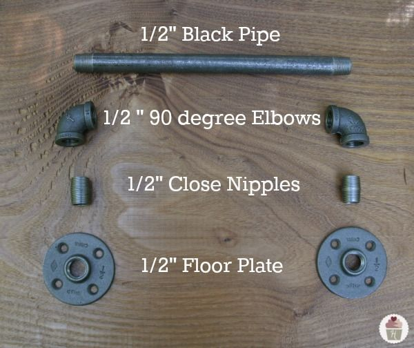 Industrial Towel Bar - How to make your own! I'm going to use this to hang pots/pans from my wall...