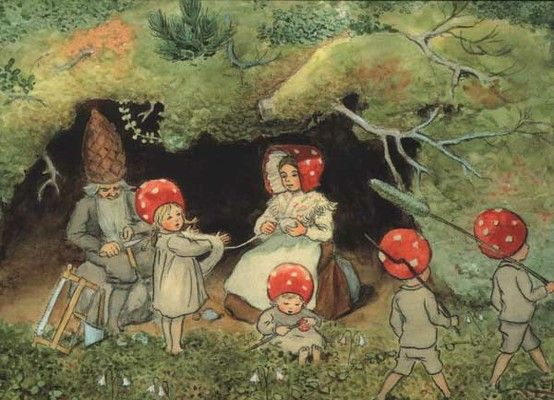 children of the forest by elsa beskow.