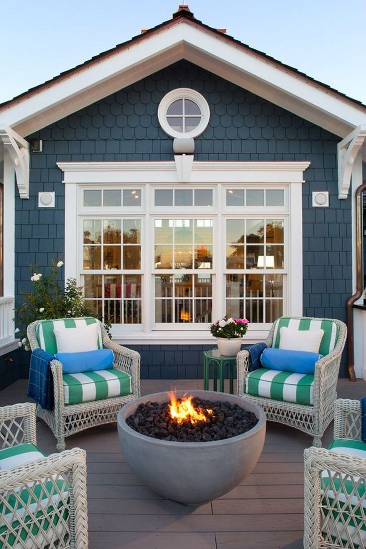 Elegant Home That Abounds With Beach House Decor Ideas: 40 Elegant Wooden And Stone Front Porch Ideas #frontporchideas #stonefrontporch » G0S.ORG