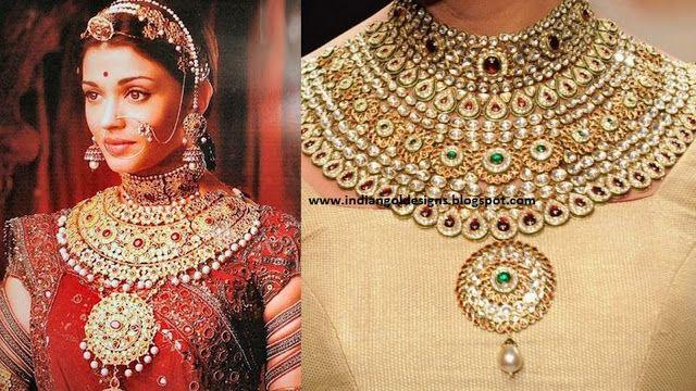 Kundan Rajasthani Bridal Jewelry Jodha Akbar