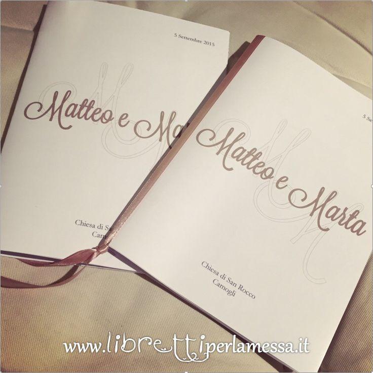 Libretto per la messa con iniziali sposi.
