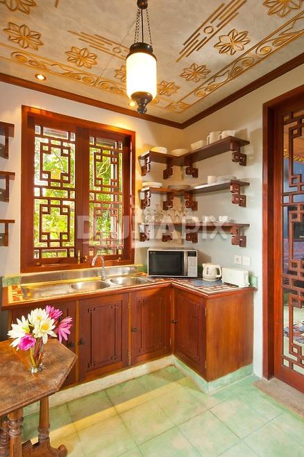 Vietnamese colonial kitchen villa keliki ubud bali for Interior design in vietnam