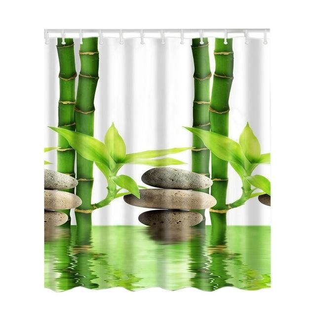 Bamboo vessel deer tree shower curtain – Products