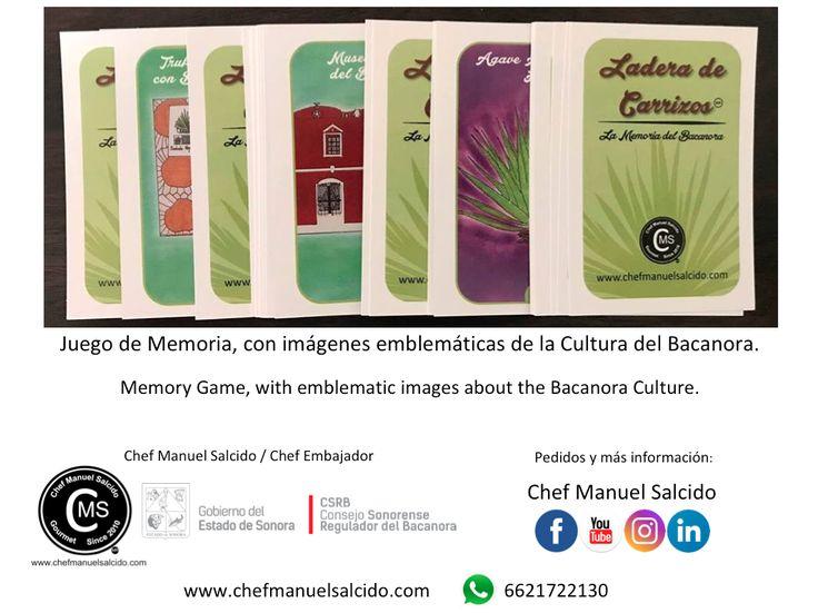 """Diversificando la #Cultura del #Bacanora por medio de """"Ladera de Carrizos, La Memoria del Bacanora"""" por Chef Manuel Salcido...es un juego de #memoria con imágenes emblemáticas de la Cultura del Bacanora... de esta manera podemos entrar a otros nichos para seguir difundiendo esta noble Denominación de Origen Mexicana =) !!! www.chefmanuelsalcido.com !!! bv!!! #chefcms #laderadecarrizos #denominacióndeorigen #México #memorama"""