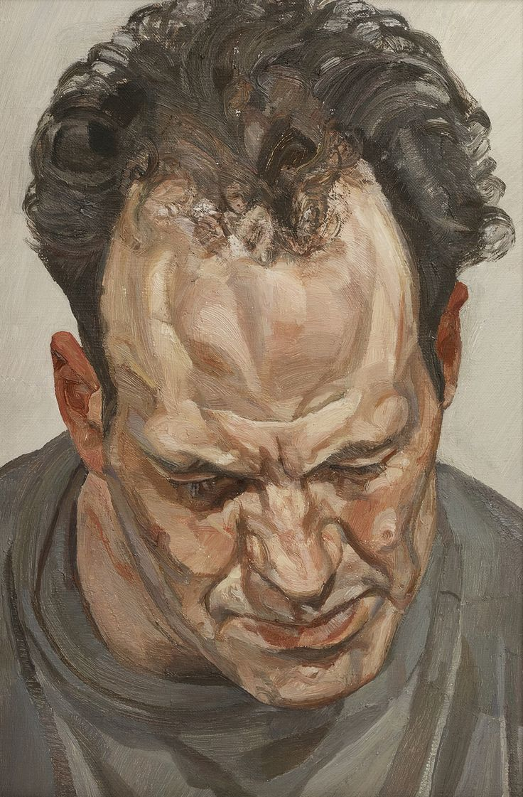 High brow … Lucian Freud's portrait of Frank Auerbach (1975-6).
