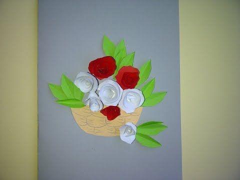 Schone Geschenke Zum Muttertag 3d Blumenkarte Mit Rosen Selber