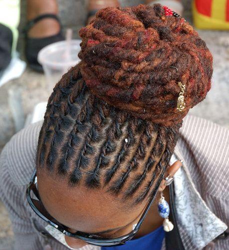 Locs Hairstyles for Men | Styled colored adorned Dreadlocks by masoesa, via Flickr | Loc Styles
