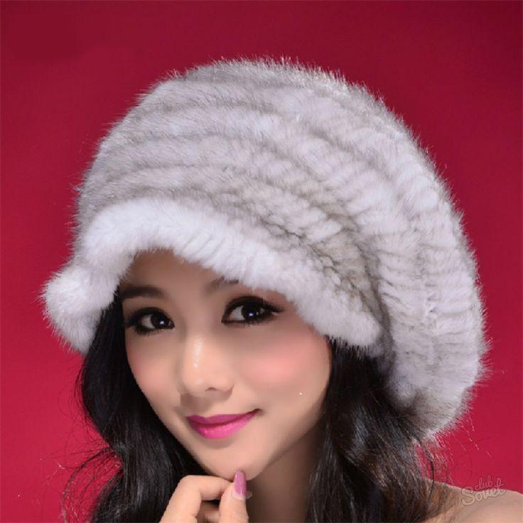 Как связать шапку из меха