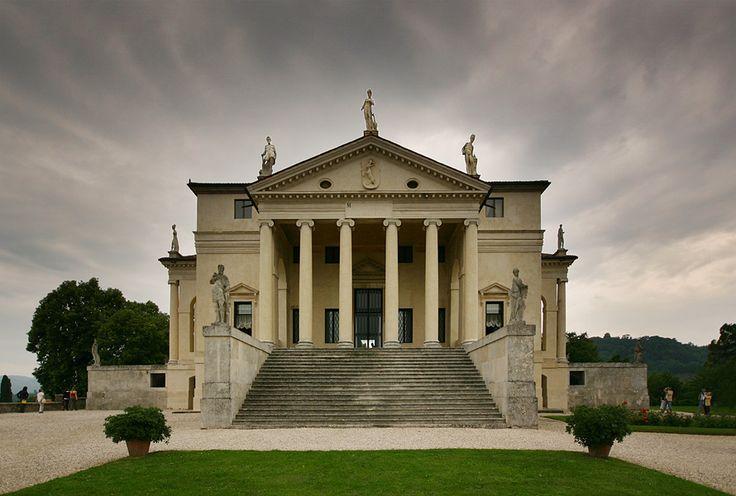 Andrea PALLADIO: Villa Capra o La Rotonda. Vista de una de las fachadas.