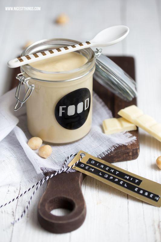 Weiße Schokocreme mit Macadamia - 12 GOLD Gastgeschenketipps | Nicest Things | Bloglovin'
