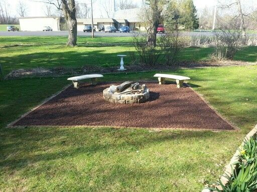 Fire Pit With Gravel And Pavers Around Our Backyard I