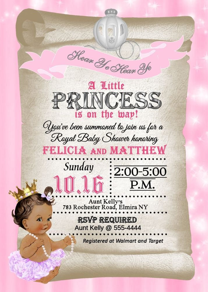details about princess baby shower invitations princess shower invitations tutu invitation